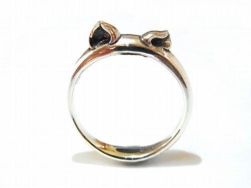 猫耳 リング 【 PASSIONE / パッショーネ 】  シルバー 925 アクセサリー 指輪 ねこ 猫 ネコ キャット アニマル シンプル 限定 誕生日 待ち かわ…