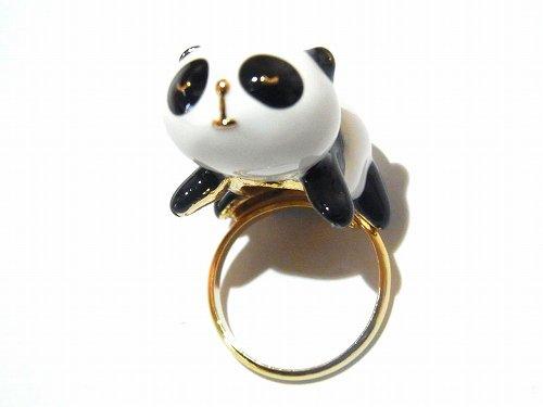 パンダ リング 【 KAZA / カザ 】【 ゆうメール 送料無料 】 アニマル 動物 アクセサリー ジュエリー 可愛い かわいい フェミニン 指輪 ナチュラル