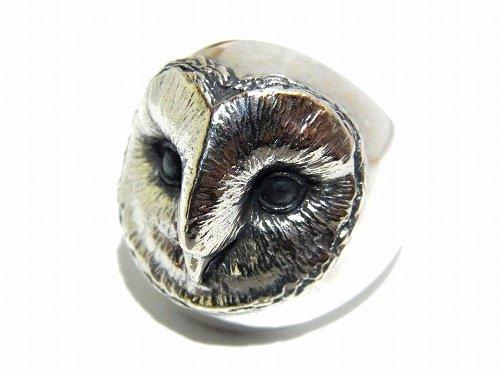 メンフクロウリング 【 ariam 】【 送料無料 】 ハンドメイド アクセサリー ジュエリー 動物 かわいい 指輪 フクロウ ふくろう シル…