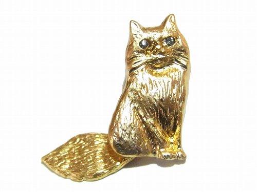 『 おすましネコ ブローチ 』 (カラー:ゴールド)【 Luccica ルチカ 】【ゆうメール送料無料】 ネコ 猫 キャット アニマル カワイイ 動物 アクセサリー レディース ナチュ…