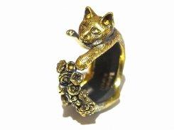 素敵なしっぽ猫 リング (素材: 真鍮)【 ホアシ ユウスケ Yusuke Hoashi 】 指輪 個性的 アクセサリー かわいい キャット ねこ 猫