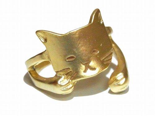 まどろみねこ リング 【 Luccica ルチカ 】【 ゆうメール 送料無料 】ネコ 猫 キャット アニマル 動物 指輪 アクセサリー カワイイ カジュアル