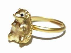 ハリネズミくん リング 【 Luccica ルチカ 】 かわいい アクセサリー 個性的 おもしろ 指輪 キュート メルヘン アニマル 動物 ジュエリー 針鼠
