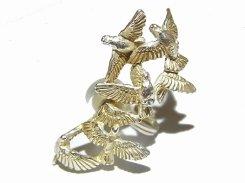 オールト イヤカフリング (片耳) 【 Palnart Poc / パルナートポック Brough Superior / ブラフシューぺリア 】【 ゆうメール 送料無料 】 鳩 ハト 鳥
