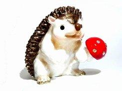 『 ハリネズミ 』 【 ピィアース Piearth Japan 】アクセサリー ジュエリー ボックス 置物 インテリア かわいい モチーフ オブジェ キノコ 茸 針鼠