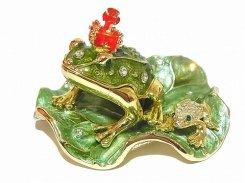 『 王冠カエル ジュエリーボックス 』【 ピィアース Piearth Japan 】アクセサリー ジュエリー 置物 インテリア かわいい モチーフ オブジェ クラウン 蛙