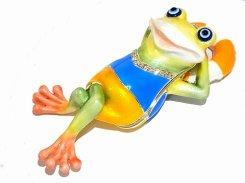 『 ケーロのうきわ ジュエリーボックス 』【 ピィアース Piearth Japan 】アクセサリー ジュエリー 置物 インテリア かわいい モチーフ オブジェ 蛙 海水浴