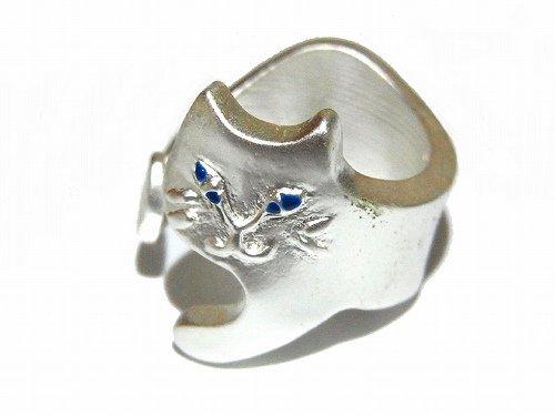 含み笑いねこ リング(シルバー) 【 Luccica ルチカ 】【 ゆうメール 送料無料 】ネコ 猫 キャット 指輪 にゃんこ 可愛い レディース ネコマニア 猫好き 黒猫