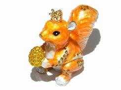 『 ミニクラウンリス ジュエリーボックス 』【 ピィアース Piearth Japan 】アクセサリー ジュエリー 置物 インテリア かわいい モチーフ オブジェ ケース りす 栗鼠 動物