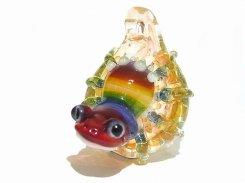 雨上がり【 kengtaro / ケンタロー 】  カエル ボロシリケイトガラス 職人 作家 蛙 かえる フロッグ 一点 カラフル 芸術 個性的 かわいい おしゃれ
