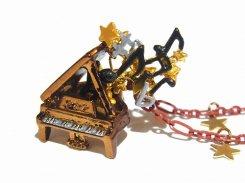ノクターン No.2 ネックレス【 Palnart Poc パルナートポック Brough Superior ブラフシューぺリア 】【 メール便 送料無料 】 ピアノ 音符 音楽 クラシック