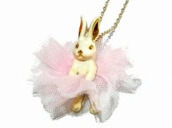 プリマドンナウサギ ネックレス 【 KAZA / カザ 】【 メール便 送料無料 】 モチーフ アニマル 動物 レディース ウサギ 兎 ラビット