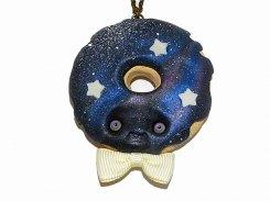 『 ギャラクシードーナツ ネックレス 』(ブルー) かわいい アクセサリー ジュエリー 銀河 星 スター スイーツ おもしろ