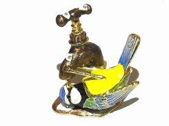 『 アオガラ ジュエリーボックス 』【 ピィアース Piearth Japan 】アクセサリー ジュエリー ボックス 置物 インテリア 動物 アニマル モチーフ オブジェ 鳥 バード 鳥類 かわいい