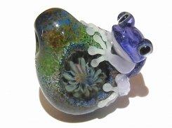 『 彩 いろどり (五) 』【 kengtaro / ケンタロー 】  カエル ボロシリケイトガラス 職人 作家 蛙 かえる フロッグ 一点 カラフル 芸術 個性的 かわいい おしゃれ