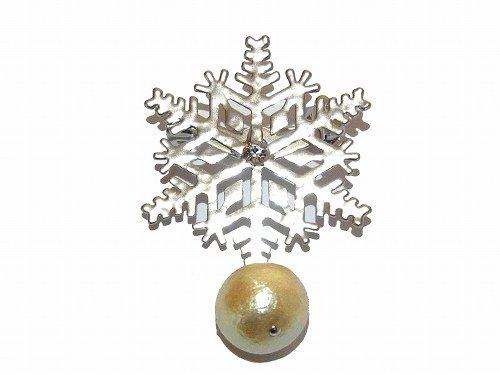 snow cristal ブローチ (シルバー大)【Luccica/ルチカ】【ゆうメール送料無料】 アクセサリー カワイイ クリスマス 雪 シーズン 季節 冬 結晶 綺麗 模様 オシャレ ファッシ…
