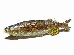秋刀魚 ブローチ 【 Palnart Poc / パルナートポック Brough Superior / ブラフシューぺリア 】【 ゆうメール 送料無料 】 サンマ 秋刀魚 魚 焼き魚 おもしろ