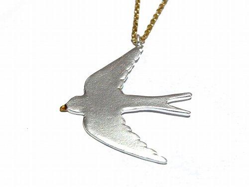 羽ばたくツバメ ネックレス (カラー:シルバー) 【 Luccica ルチカ 】【メール便送料無料】 バード アクセサリー 爽やか カジュアル レディース 鳥 ツバメ つ…