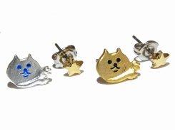 『 チラねこ ピアス 』 (MATSV×GD星)【 Luccica ルチカ 】 ネコ ねこ キャット アニマル 動物 かわいい おもしろ アクセサリー 大人可愛い コーデ
