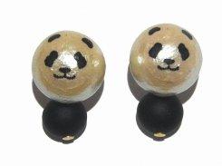 アニマルフェイス コットンパールピアス ( panda パンダ )【 Luccica ルチカ 】【メール便送料無料】 アクセサリー 動物 カワイイ 大人可愛い 上野動物園 ブランド