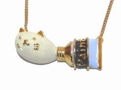 絵の具チューブネコ ネックレス 【 KAZA / カザ 】【 メール便 送料無料 】 猫 ねこ キャット アニマル 動物 レディース アクセサリー 大人可愛い