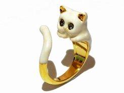 ミルキーキャット巻き付き リング 【 KAZA / カザ 】【 メール便 送料無料 】 ねこ 猫 キャット アニマル 動物 アクセサリー レディース 大人可愛い