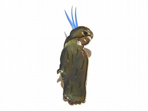 アオメキバタン ブローチ (カラー:ブルー)【 Luccica ルチカ 】 アクセサリー 個性的 おもしろ かわいい レディース 生き物 鳥 バード アニマル ユニー…