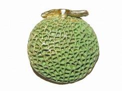 夕張きぶんブローチ Palnart Poc パルナートポック メール便 送料無料 メロン 果物 フルーツ 誕生日 プレゼント 女性 雑貨 おもしろ ユニーク かわいい