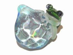 水  (参)【 kengtaro / ケンタロー 】  カエル ボロシリケイトガラス 職人 作家 蛙 かえる フロッグ 一点 カラフル 芸術 個性的 かわいい おしゃれ