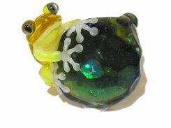 水  (四)【 kengtaro ケンタロー 】  カエル ボロシリケイトガラス 職人 作家 蛙 かえる フロッグ 一点 カラフル 芸術 個性的 かわいい おしゃれ