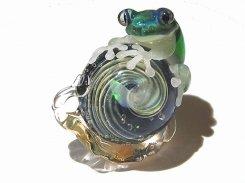 カタツムリ 拾弐 【 kengtaro ケンタロー 】 カタツムリ カエル ボロシリケイトガラス 職人 作家 蛙 かえる フロッグ 一点 カラフル 芸術 個性的 かたつむり