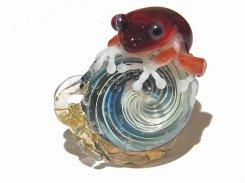 カタツムリ 拾参【 kengtaro ケンタロー 】 カタツムリ カエル ボロシリケイトガラス 職人 作家 蛙 かえる フロッグ 一点 カラフル 芸術 個性的 かたつむり