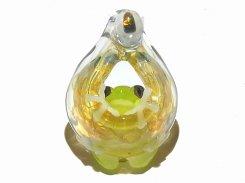 光の射す方へ  弐【kengtaro/ケンタロー】  カエル ボロシリケイトガラス 職人 作家 蛙 かえる フロッグ 一点 カラフル 芸術 個性的 かわいい おしゃれ