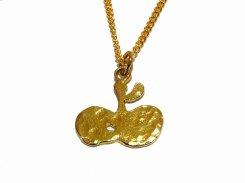 ちいさいりんご ネックレス【thuthu appetizing accessories/nupi】 かわいい necklace ハンドメイド 真鍮 アクセサリー