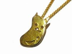 まめねこ ネックレス【thuthu appetizing accessories/nupi】 necklace ハンドメイド 真鍮 アクセサリー