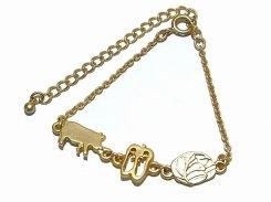 ホイコーローのブレスレット【thuthu appetizing accessories/nupi】ハンドメイド 真鍮 アクセサリー