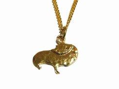 もるぞう ネックレス【 thuthu appetizing accessories / nupi 】 ハンドメイド 真鍮 アクセサリー モルモット necklace