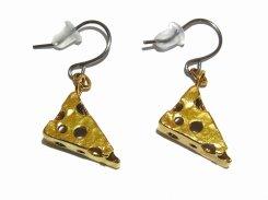 おいしいチーズ ピアス【 thuthu appetizing accessories / nupi 】 ハンドメイド 真鍮 アクセサリー accessoies necklace