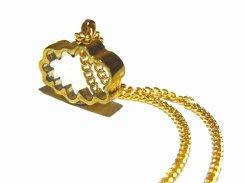 ちいさいそらのくも ネックレス【 thuthu appetizing accessories / nupi 】 ハンドメイド 真鍮 アクセサリー accessoies necklace