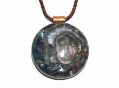 オルゴナイト ペンダント L【Powerful Orgone Pendant】水晶/ブルーアパタイト/セレナイト/ソーダライト 天然石