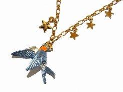 アルブレヒトピーティーツ ネックレス 【 Palnart Poc パルナートポック 】 鳥 バード 燕 ツバメ 星 スター おしゃれ 誕生日 プレゼント 女性 雑貨 かわいい 上品