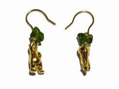 双子の王子 ピアス 森 (ゴールド)【 Tiny tail タイニーテイル 】 真鍮 アクセサリー クロムダイオプサイド 誕生日 プレゼント 女性 雑貨 熊 かわいい