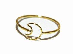 小さな月 リング (11号)【 Tiny tail タイニーテイル 】 真鍮 アクセサリー ナチュラル シンプル ドレス ムーン 三日月 可愛い かわいい