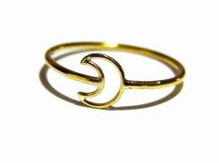 小さな月 リング (6号)【 Tiny tail タイニーテイル 】 真鍮 アクセサリー ナチュラル シンプル ドレス ムーン 三日月 可愛い かわいい