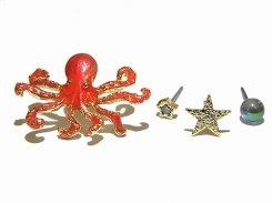 Octopus ピアス 【 Luccica ルチカ 】【メール便送料無料】 かわいい おもしろ アクセサリー 個性的 ユニーク オクトパス たこ 蛸 ニッチ 星 スター かわいい