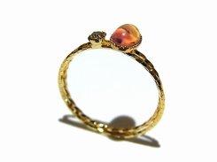 kuhl リング (11号)(カラー:オレンジ) 【 Luccica ルチカ 】【 メール便 送料無料 】 指輪 アクセサリー かわいい レディース キュート ガラス 硝子 さりげない 上品