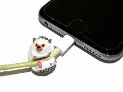 ZOOCORD(ズーコード)ハリネズミ【 RELAX / リラックス 】 動物 ケーブル コード 断線予防 iphone ipad 携帯 アクセサリー アニマル かわいい スマホ スマートフォン