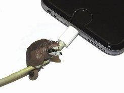 ZOOCORD(ズーコード)アライグマ【 RELAX / リラックス 】 動物 断線予防 iphone ipad ケーブル 携帯 アクセサリー アニマル かわいい