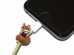 ZOOCORD(ズーコード)キタキツネ【 RELAX / リラックス 】 動物 断線予防 iphone ipad ケーブル 携帯 アクセサリー アニマル かわいい