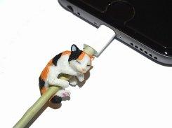 ZOOCORD(ズーコード)ミケネコ【 RELAX / リラックス 】 三毛猫 キャット猫 断線予防 iphone ipad ケーブル 携帯 アクセサリー アニマル cat スマートフォン